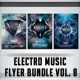 Electro Music Flyer Bundle Vol. 8 - GraphicRiver Item for Sale