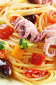 Seafood spaghetti marinara pasta macro photo - PhotoDune Item for Sale
