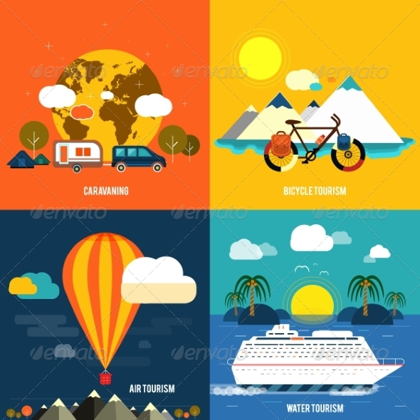 GraphicRiver Set of Traveling and Planning a Summer Vacation 7337298