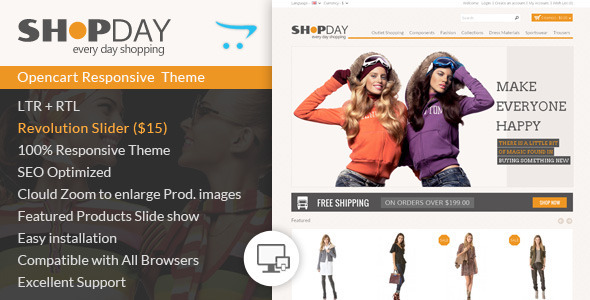 ThemeForest Shopday Opencart Responsive Theme 7337433