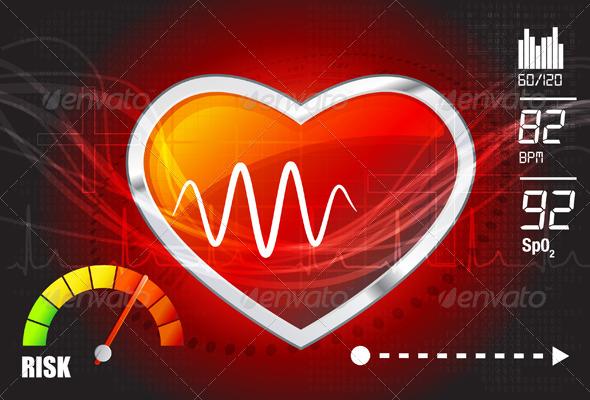GraphicRiver Heart Risk Assessment Illustration 7337469