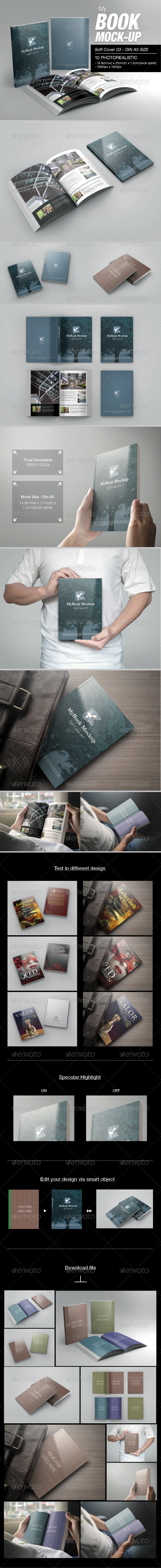 GraphicRiver MyBook Mock-up Soft Cover 03 7337539