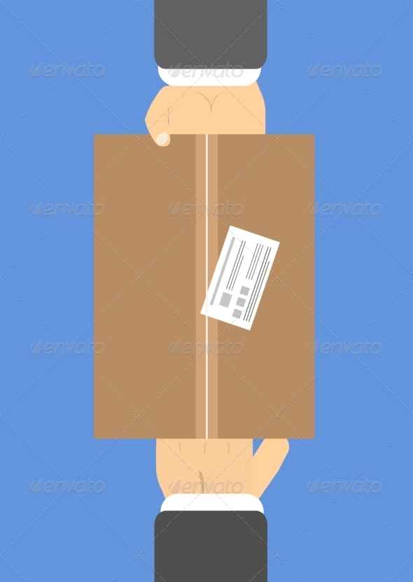 GraphicRiver Hands Holding Box 7337540