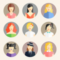 women avatars in flat style - PhotoDune Item for Sale