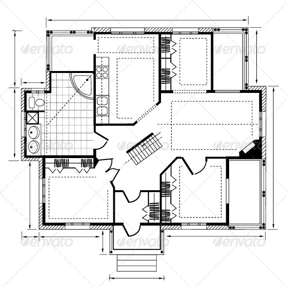 GraphicRiver House Plan 7337632