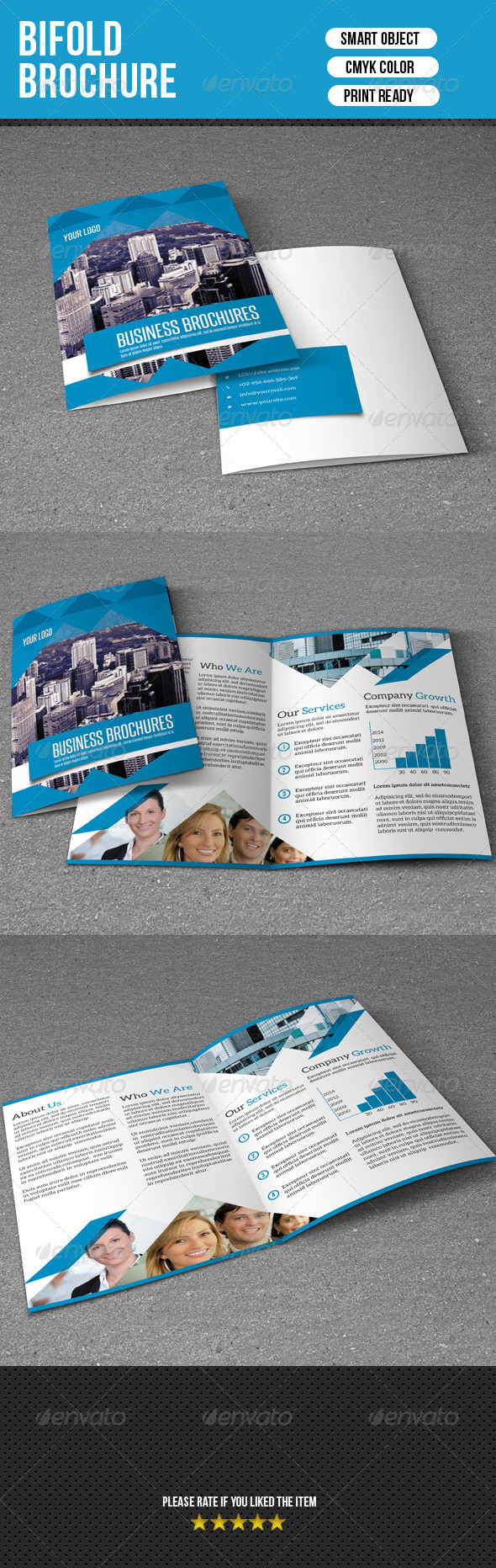 GraphicRiver Bifold Brochure-Business 7337862