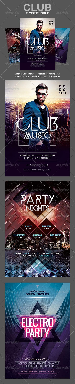 GraphicRiver Club Flyer Bundle 7338060