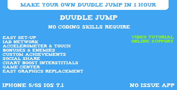 CodeCanyon Duudle Jump iOS Game Template 7338288