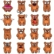 16 Smiley Bears Individually Grouped - GraphicRiver Item for Sale
