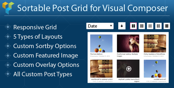 CodeCanyon Sortable Post Grid for Visual Composer 7338639