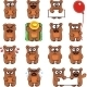 15 Smiley Bears Individually Grouped - GraphicRiver Item for Sale