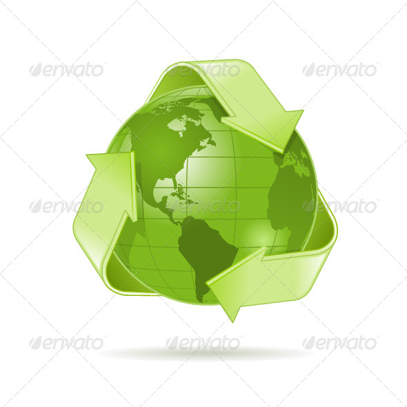 GraphicRiver Green Globe 7339117