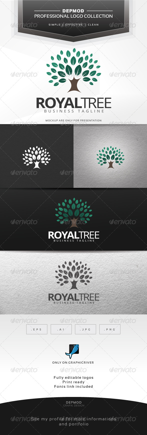 GraphicRiver Royal Tree Logo 7339129