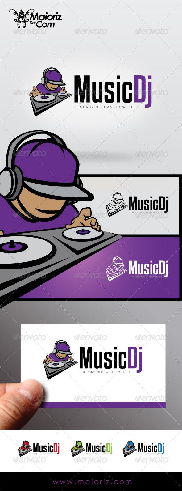 GraphicRiver Music Dj Logo 7339531