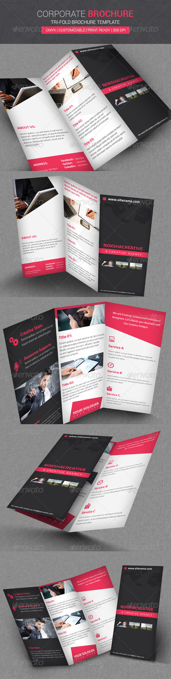 GraphicRiver Corporate Tri Fold Brochure 7339530