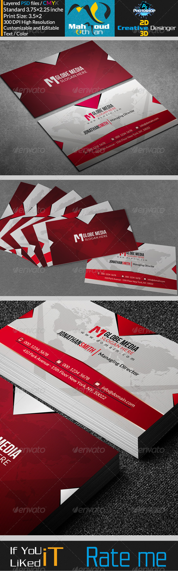 GraphicRiver Corportae Business Card V04 7339729