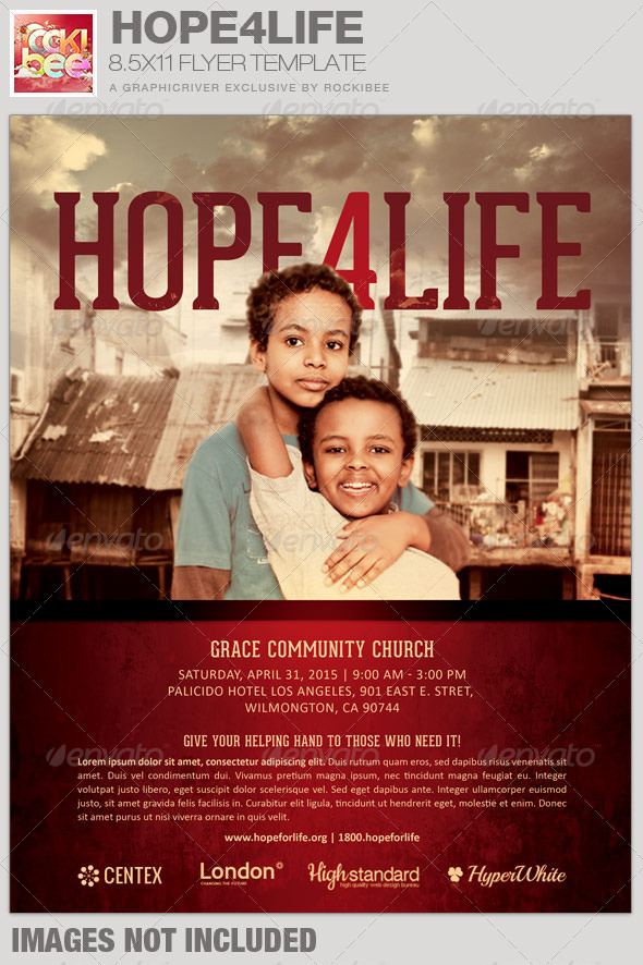 GraphicRiver Hope4Life Charity Event Flyer Template 7339738
