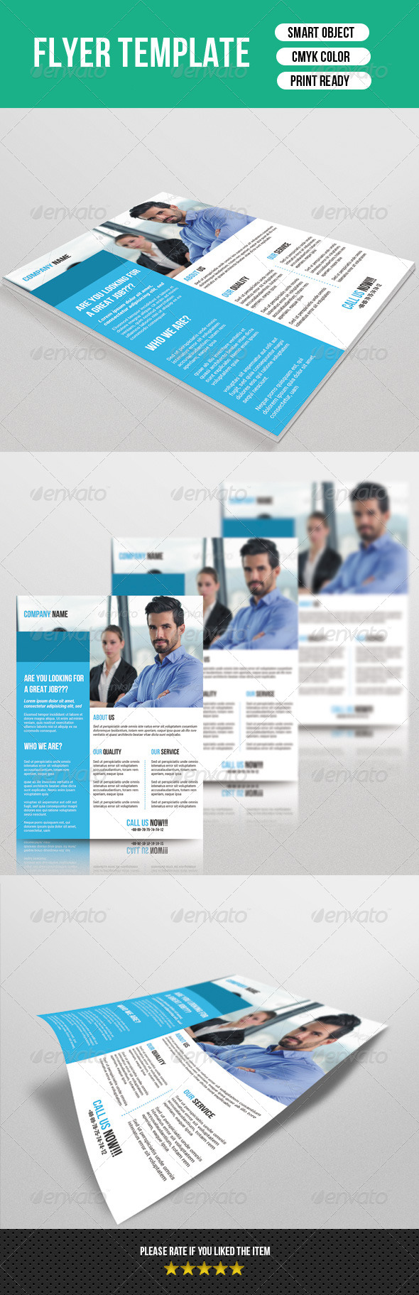 GraphicRiver Corporate Flyer Template 7339739