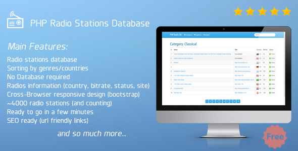 PHP Radio Stations Database