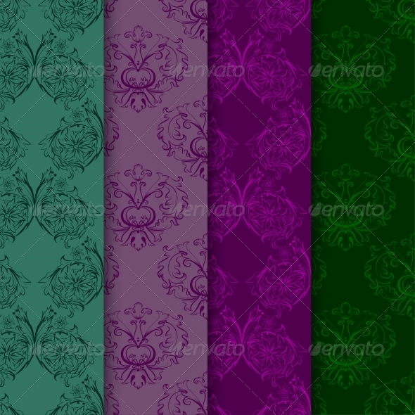 GraphicRiver Set of Seamless Patterns with Damask Elements 7340129