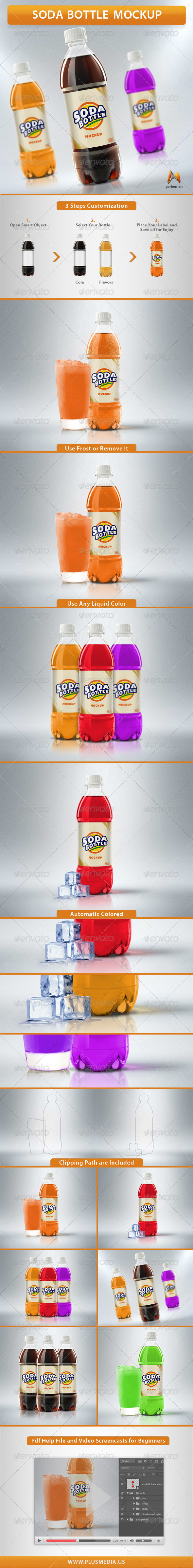 GraphicRiver Soda Bottle Mockup 7340154