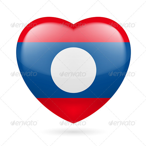 GraphicRiver Heart Icon of Laos 7340490