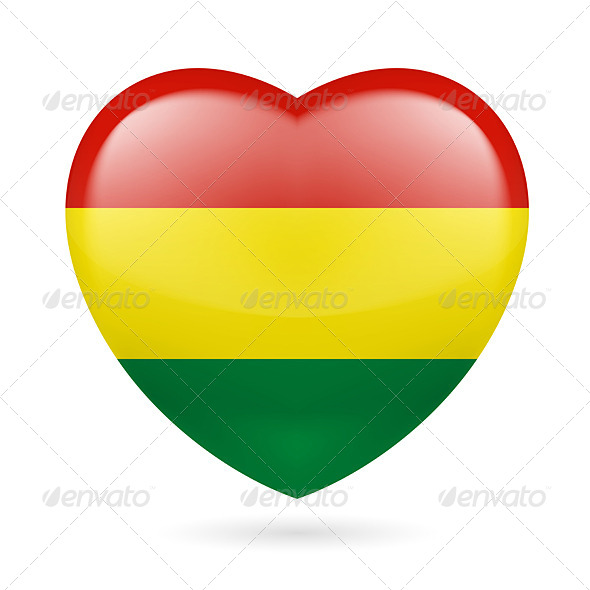 GraphicRiver Heart Icon of Bolivia 7340495