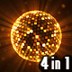 Mirror Disco Ball (4 Colors) - VideoHive Item for Sale