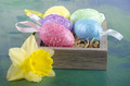 easter eggs and one daffodil - PhotoDune Item for Sale