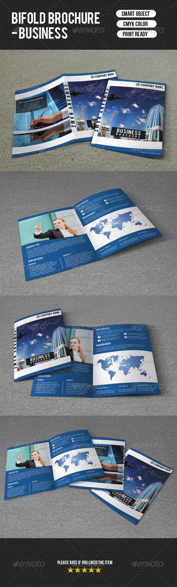 GraphicRiver Bifold Business Brochure 7340663