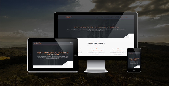 ThemeForest Hosty Responsive Html Hosting Template 7340819