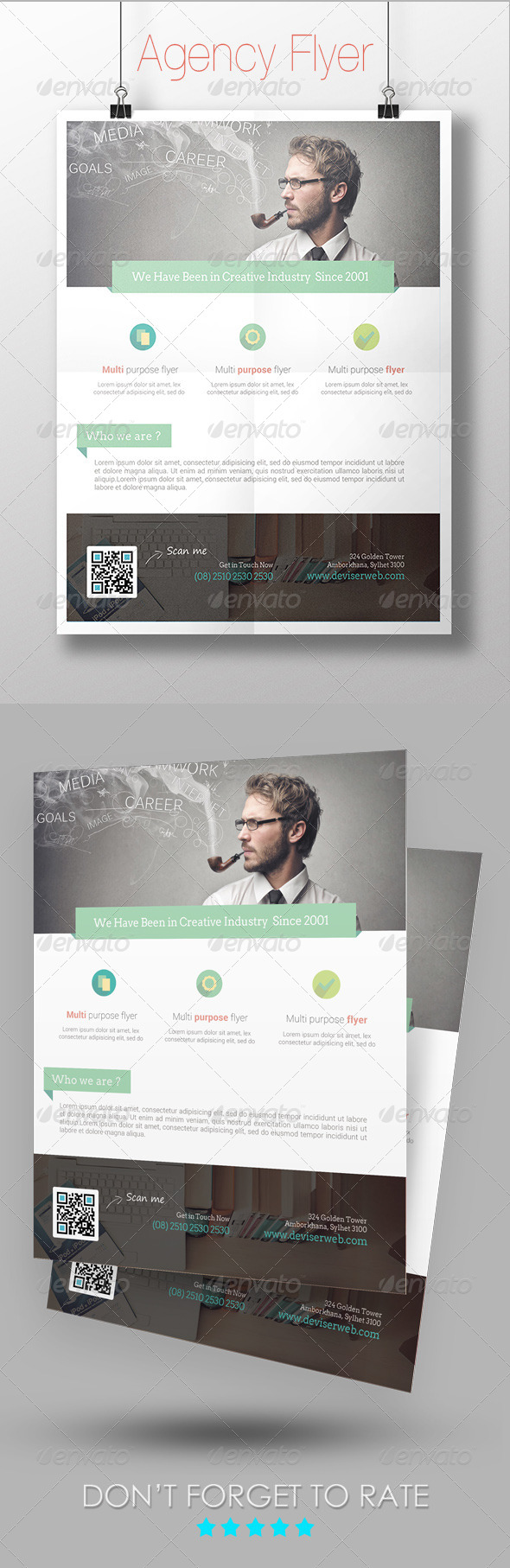 GraphicRiver Creative Agency Flyer 7340875