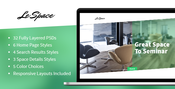 ThemeForest Le Space PSD 7340913