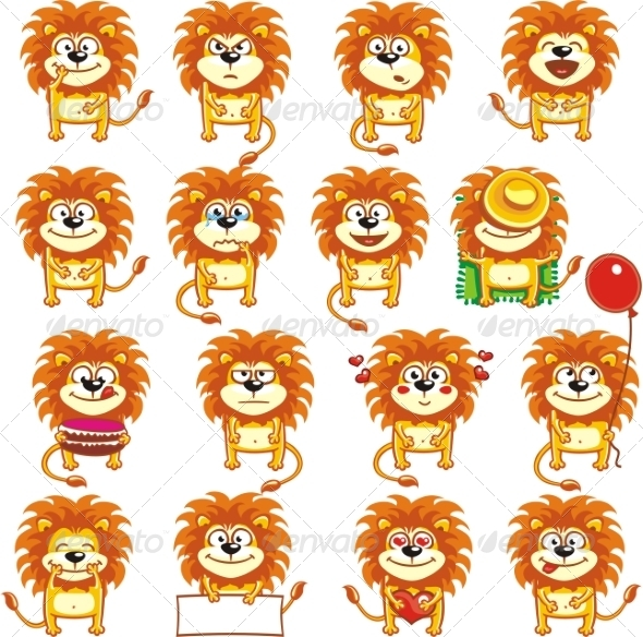 GraphicRiver Smiley Lions 7340928