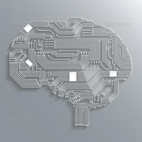 GraphicRiver Circuit Board Brain 7340956
