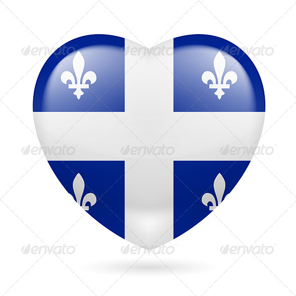 GraphicRiver Heart Icon of Quebec 7340988