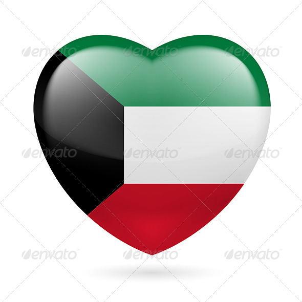 GraphicRiver Heart Icon of Kuwait 7340995