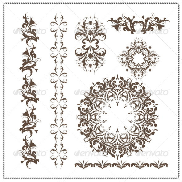 GraphicRiver Calligraphic Patterns 7341001