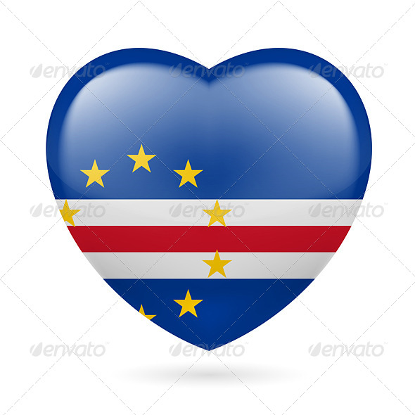 GraphicRiver Heart Icon of Cape Verde 7341000