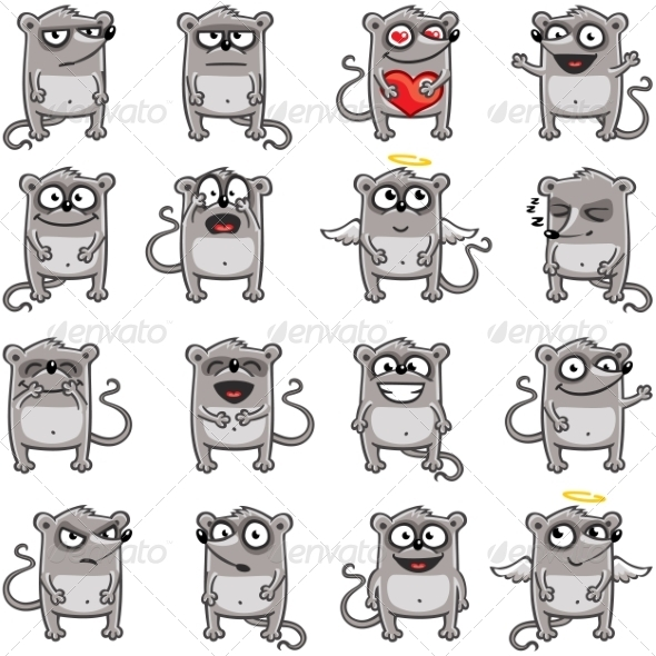 GraphicRiver Smiley Mice 7341050