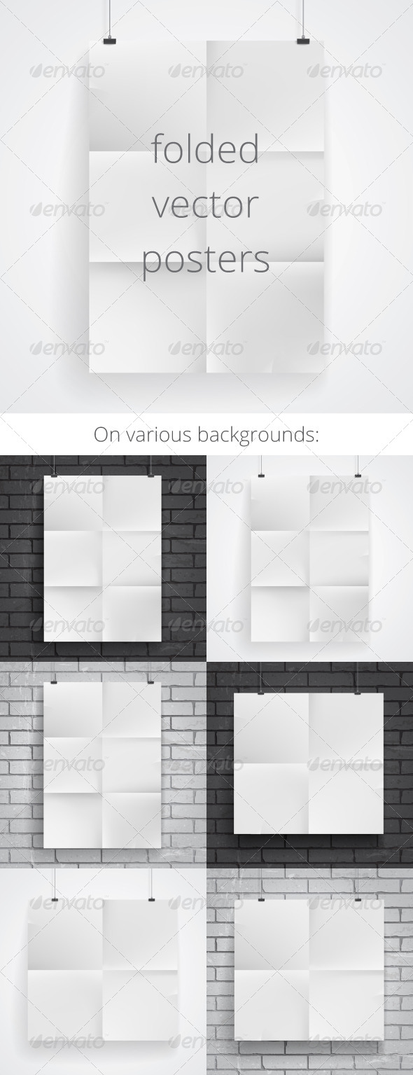 GraphicRiver Blank Folded Paper Posters 7341267