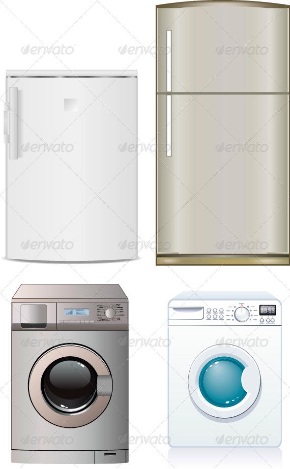 GraphicRiver Refrigerator and Washing Machine 7341307