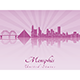 Memphis Skyline - GraphicRiver Item for Sale