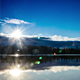 Clouds and Sun Over the Lake - VideoHive Item for Sale
