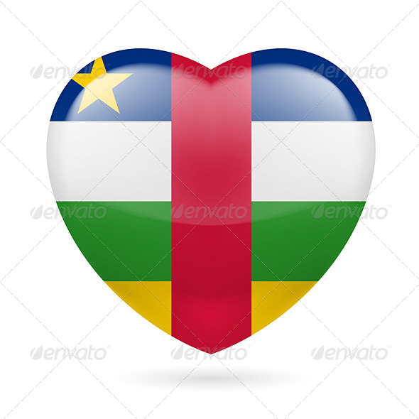 GraphicRiver Heart Icon of Central African Republic 7341463