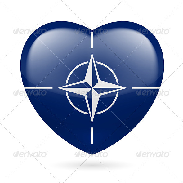 GraphicRiver Heart Icon of NATO 7341467