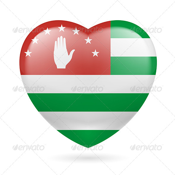 GraphicRiver Heart Icon of Abkhazia 7341468