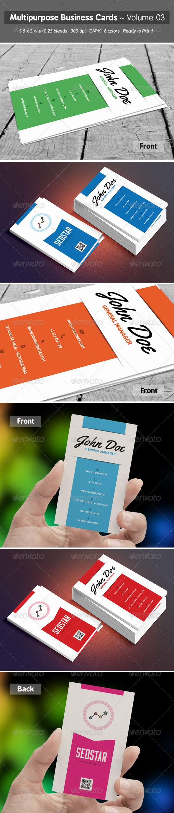 GraphicRiver Multipurpose Business Cards Volume 03 7341471