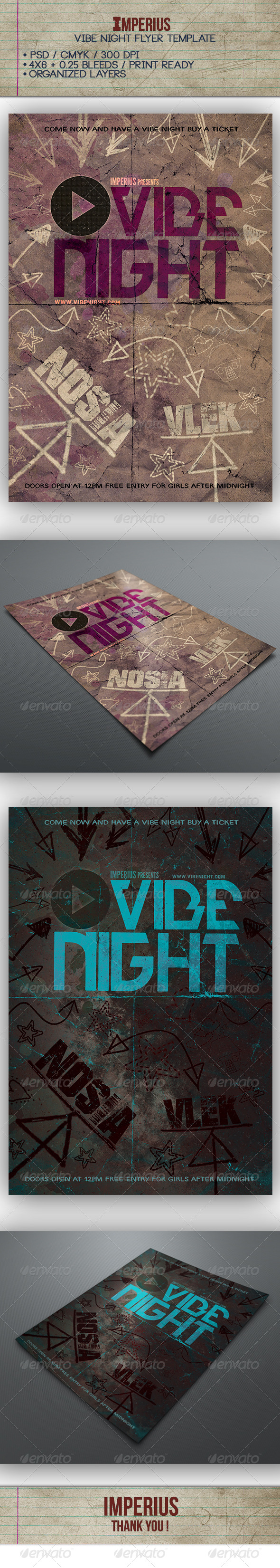 GraphicRiver Vibe Night Flyer 7341502
