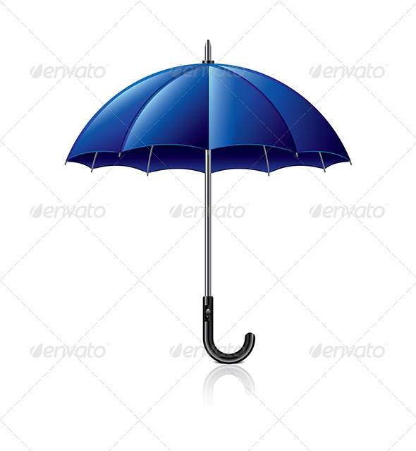 GraphicRiver Classic Blue Umbrella Illustration 7341554